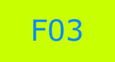 Error code F03 sa washing machine Indesit