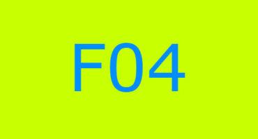 Error code F04 sa washing machine Indesit
