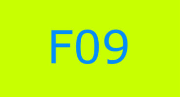 Error code F09 sa washing machine Indesit