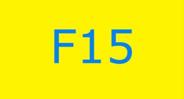 Fejlkode F15 i vaskemaskinen Ariston