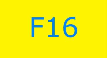 Fejlkode F16 i vaskemaskinen Ariston