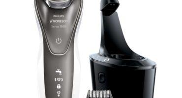 Propiedades y características de una afeitadora eléctrica rotativa.