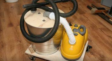 Mas malinis ang vacuum ng konstruksiyon ng DIY