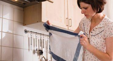 Mikrobølgeovn køkkenhåndklæder - hvordan bleges eller vaskes